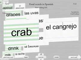 Make Spanish flash cards in Flash My Brain with unprecedented ease.