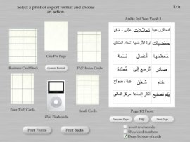 Print Arabic flash cards in Flash My Brain with unprecedented ease.