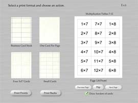 Print multiplication flash cards in Flash My Brain with unprecedented ease.
