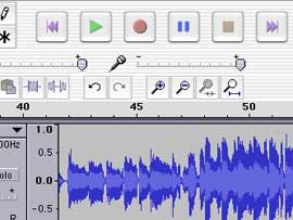 You can create sound for talking flash cards in programs like Audacity and GarageBand.