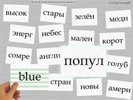 Play flash card games to sharpen your skills in Russian!